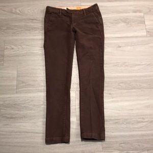 GUC Pilcro and the letterpress brown twill pants